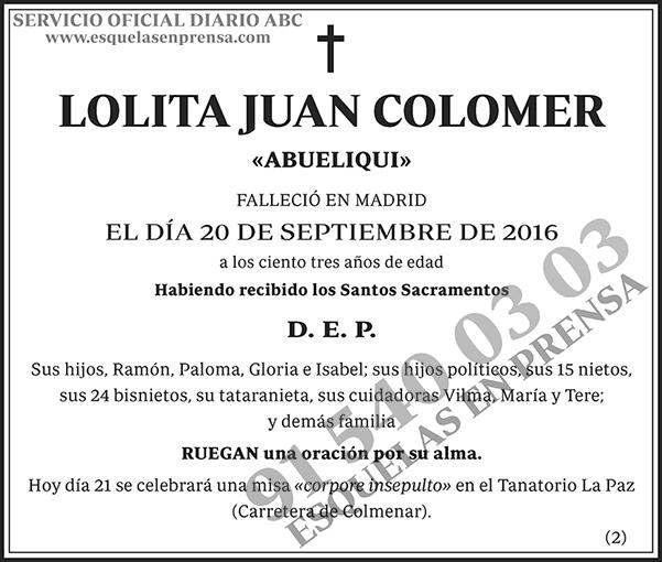 Lolita Juan Colomer